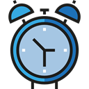 Clock, time, timer, alarm clock, Tools And Utensils, Time And Date LightSteelBlue icon