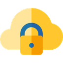 Multimedia, Computer, security, padlock, privacy, technology, Cloud computing, defense Gold icon