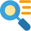 search, magnifying glass, zoom, detective, Loupe, Tools And Utensils, Seo And Web CornflowerBlue icon