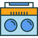 technology, electronic, electronics, vintage, music, radio PowderBlue icon