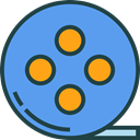 video player, filming, interface, technology, electronics, film reel, cinema, film, movie CornflowerBlue icon