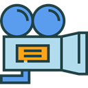 film, movie, technology, electronics, video camera, Video Cameras, Camera, cinema DarkSlateGray icon