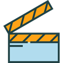 cinema, movie, Movies, Clapperboard, clapper, Tools And Utensils, Cinema Icons PowderBlue icon