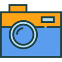 Camera, picture, interface, digital, technology, electronics, photograph, photo camera CornflowerBlue icon