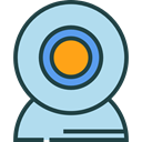 Cam, Webcam, technology, electronics, Videocam, Communications, video chat, Videocall PowderBlue icon