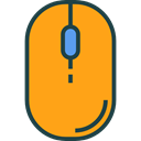 Computer, Mouse, technology, electronic, electronics, computing, computer mouse, clicker, Technological Orange icon