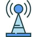 Communications, Wireless Connectivity, Wireless Internet, antenna, electronics Black icon