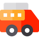 food, Fast food, trucking, Delivery Truck, Hot Dog, Food And Restaurant, Shipping And Delivery, transportation, truck, transport, van OrangeRed icon