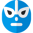 fight, Masks, Oval, Mexican, shapes, Mexico, Mask, fighter, Fighters, Mexico Icons, Sports And Competition DodgerBlue icon