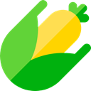 Maize, Food And Restaurant, food, Ear, corn, Cob LimeGreen icon
