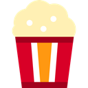 cinema, food, Salty, popcorn, snack, Fast food, entertainment Moccasin icon