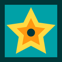 star, award, recognition, entertainment, signs, Walk Of Fame DarkCyan icon