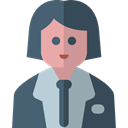 user, woman, Avatar, job, teacher, physician, scientist, profession, Occupation, Professions And Jobs DarkSlateGray icon