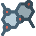 education, nature, Molecule, Biology, Molecular, Molecules, Healthcare And Medical, science DimGray icon