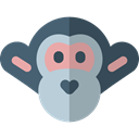monkey, Primate, Animal Kingdom, zoo, Animals, mammal, wildlife Black icon