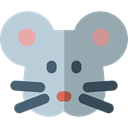 wildlife, pet, rat, Animals, rodent DarkGray icon