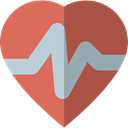 Heart, medical, pulse, heart rate, Electrocardiogram, Cardiogram, Healthcare And Medical Sienna icon