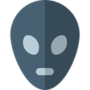 people, user, Ufo, Avatar, Alien, space, galaxy, extraterrestrial DarkSlateGray icon