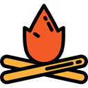 miscellaneous, hot, Burn, Flame, nature, Bonfire, Camping, campfire Black icon