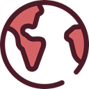 worldwide, Maps And Flags, Planet Earth, Maps And Location, global, Geography Maroon icon
