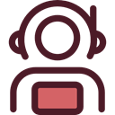 Occupation, Aqualung, people, user, Avatar, job, space, Astronaut, galaxy, profession Maroon icon
