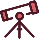 science, education, Observation, space, telescope, Tools And Utensils Icon