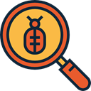 search, magnifying glass, zoom, miscellaneous, detective, Loupe, Tools And Utensils DarkSlateGray icon