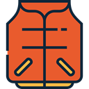 security, vest, Lifesaver, Lifejacket Chocolate icon