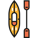 transport, sports, Kayak, olympic, Canoe, Summertime, Rafting, Sports And Competition Black icon