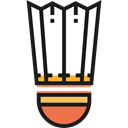 sport, Shuttlecock, sports, birdie, Badminton, Sports And Competition Black icon