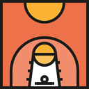 Basketball Court, Sports And Competition, Game, Basketball, sports, Playground, Sportive Tomato icon