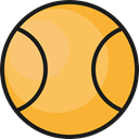 Sportive, Sports And Competition, Ball, tennis, sports SandyBrown icon