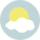 Cloud, weather, Cloudy, Sunny, sky, meteorology, Clouds And Sun LightGray icon