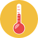 Tools And Utensils, Mercury, Celsius, Fahrenheit, Degrees, miscellaneous, temperature, thermometer SandyBrown icon