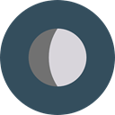 Moon, weather, nature, meteorology, Astronomy, full moon, Moon Phase DarkSlateGray icon