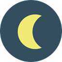 Moon, full moon, Moon Phase, weather, nature, meteorology, Astronomy DarkSlateGray icon