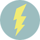 lightning, weather, electricity, Flash, Bolt, electrical, technology, thunder DarkGray icon