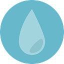 miscellaneous, weather, Rain, drop, water, Teardrop, raindrop MediumAquamarine icon