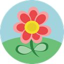 Flower, weather, nature, petals, blossom, Botanical LightBlue icon