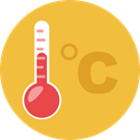 Mercury, Celsius, Fahrenheit, Degrees, Tools And Utensils, weather, temperature, thermometer SandyBrown icon
