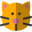Cat, pet, kitty, Animals, domestic, Feline, Breed DarkGoldenrod icon