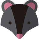 Animals, mammal, badger, wildlife, Animal Kingdom, zoo DarkSlateGray icon