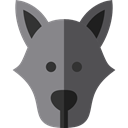 zoo, Animals, wolf, wildlife, Animal Kingdom DarkSlateGray icon