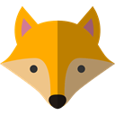 Fox, zoo, Animals, wildlife, Animal Kingdom Black icon