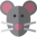 rodent, wildlife, Animal Kingdom, Mouse, pet, Animals, mammal Gray icon