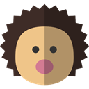 zoo, hedgehog, Animals, mammal, wildlife, Animal Kingdom Black icon
