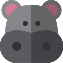 zoo, Animals, hippopotamus, wildlife, Animal Kingdom DimGray icon