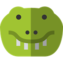 zoo, Animals, reptile, wildlife, Crocodile, Animal Kingdom OliveDrab icon