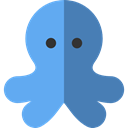 Sea Life, Animals, Aquarium, Octopus, Aquatic CornflowerBlue icon