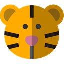 Tiger, zoo, Animals, mammal, wildlife, Animal Kingdom DarkGoldenrod icon